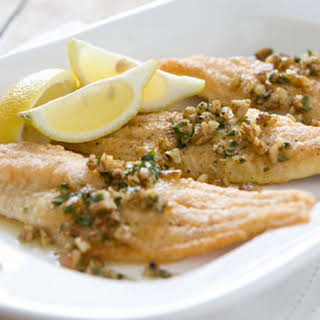 Pan-Fried Catfish with Brown Butter and Pecans.