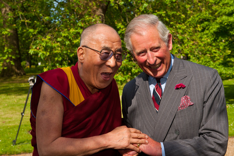 Photo: His Holiness the Dalai Lama with Britain's Prince Charles at Clarence House in London, England, on June 20, 2012. Photo/Ian Cumming