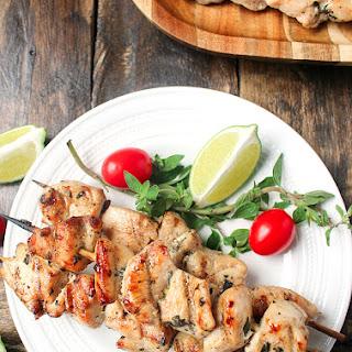 Paleo Grilled Chicken Kabobs.