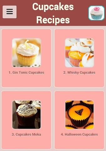 android Cupcakes Recipes Screenshot 0