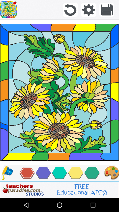 stained glass coloring book screenshot - Stained Glass Coloring Books