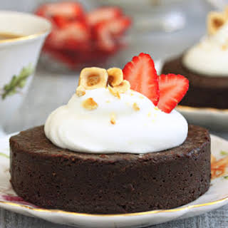 Flourless Chocolate Hazelnut Cakes.