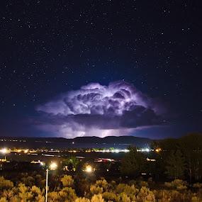 Mushroom Cloud by Ben Steiner - Landscapes Weather ( ben steiner, pwcfoulweather, d7000, weather, night, nikon, lignting )