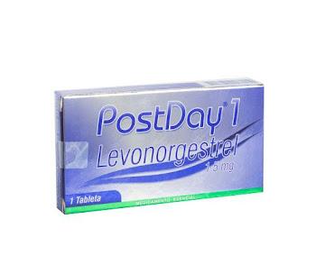 Postday 1 1.5mg. Tableta   Caja x1tab. LAFRANCOL Levonorgestrel