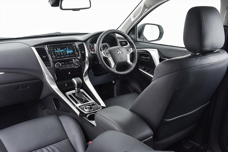 The interior is similar to that of the Triton bakkie with a high level of comport and equipment. Picture: QUICKPIC