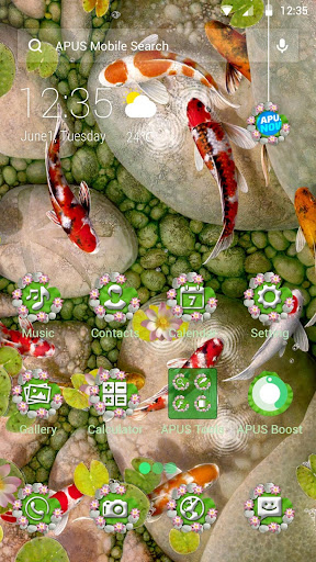 Koi Fish--APUS Launcher Free Theme&HD Wallpapers - screenshot