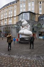 Photo: Peyo jamás pensó tener una escultura de este tamaño de un personaje suyo.