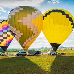hot air balloon by Domingo Washington - Transportation Other