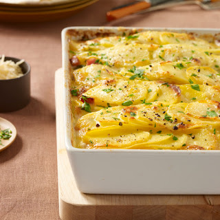 Scalloped Potatoes with Ham.
