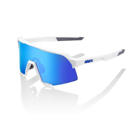 100% - S3 - Matte White/Hiper Blue