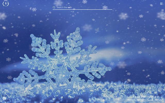 Snowflakes HD Wallpapers New Tab Theme