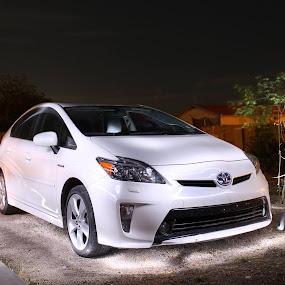 Toyota Prius  by Richard Calderon - Transportation Automobiles ( car, electric, prius, hybrid, painting, light, smart, toyota )