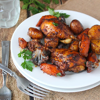 Spicy Roasted Chicken & Vegetables