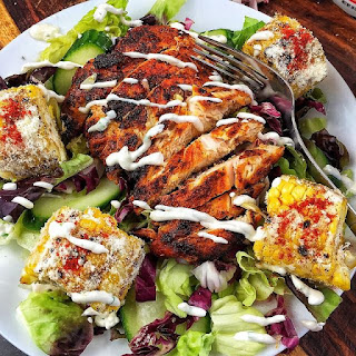 Mexican Street Corn Salad with Adobo Grilled Chicken