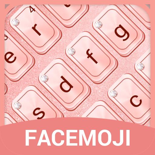 Rose Gold Keyboard Theme & Emoji Keyboard