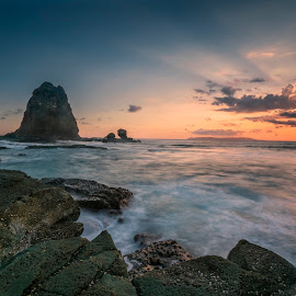 Sunset at Papuma Beach by Slamet Mardiyono - Landscapes Sunsets & Sunrises