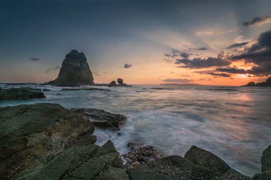Sunset at Papuma Beach by Slamet Mardiyono - Landscapes Sunsets & Sunrises