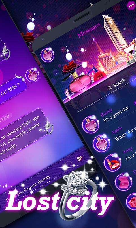 Скриншот GO SMS PRO LOST CITY THEME