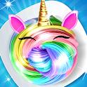 Unicorn Rainbow DIY slime maker icon