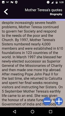 Mother Teresa's quotes - screenshot