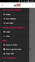 Screenshot of Baby Wonder Weeks Milestones
