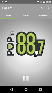 Pop FM: miniatura da captura de tela