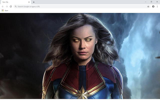 Captain Marvel Movie Wallpapers and New Tab