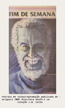 """Photo: Bruno Steinbach. """"Retrato de W. J. Solha"""" . Reprodução em Página de Jornal de original em óleo / tela, 46 x 29,5 cm, 2001, João Pessoa, Paraíba, Brasil. Coleção: J. W. S"""