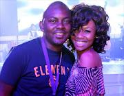 FILE PICTURE: BlackBerry Bold 9900 Launch-Dj  Euphonik  and  Bonang  Matheba. Pic:Simon Mathebula.16/09/2011. © Sunday Times