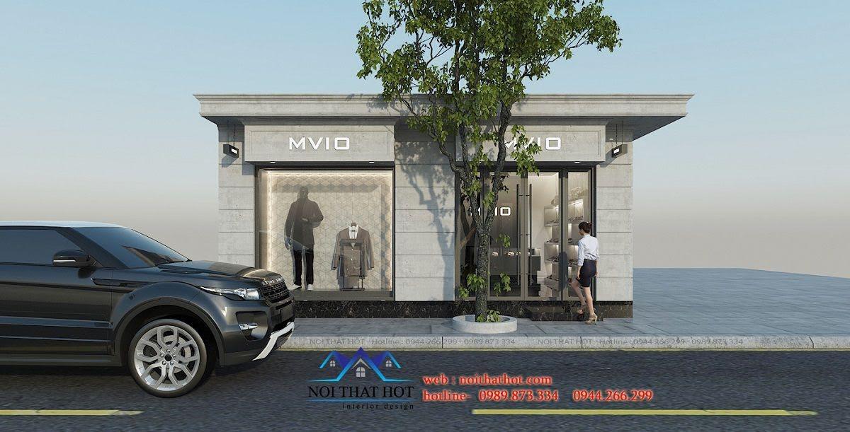 mẫu thiết kế mặt tiền cửa hàng thời trang