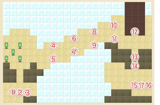 魔法の軌跡_モンスターレベル50のキャラ配置マップ