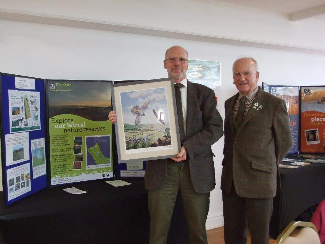 Tim Ganicliffe (left) with Stephen Ross, Chairman of Wirral Wildlife.