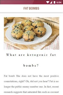 Healthy Recipes: Fat Bombs Food for Keto Diet - náhled