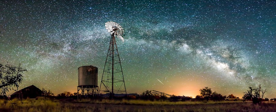 Empire Ranch Meteor by Ed Mullins - Landscapes Starscapes (  )