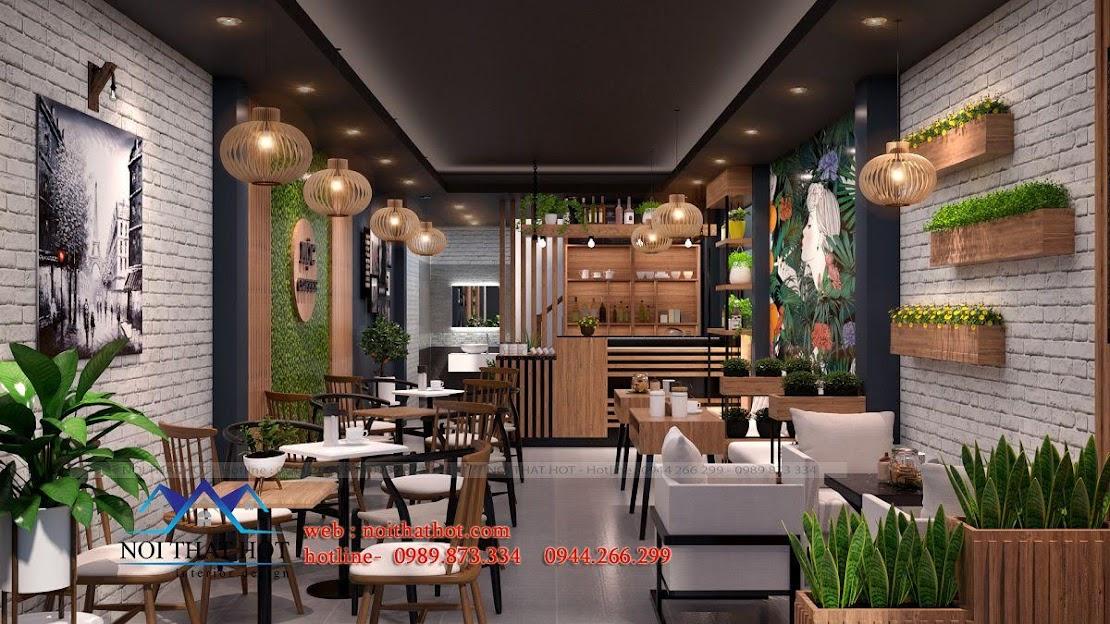 thiết kế quán cafe 40m2 1