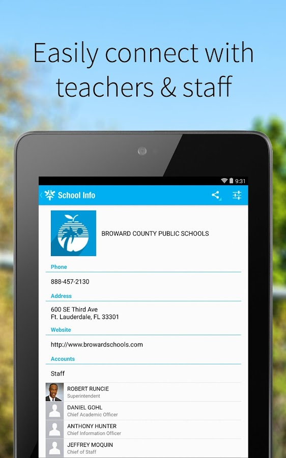 Broward County Public Schools- screenshot