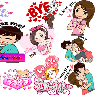 Love Stickers / romance stickers for couples Screenshot