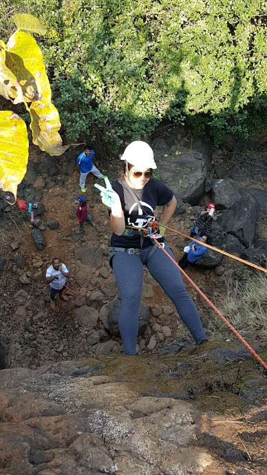 Rappelling Adventure camp at Nisargshala near Pune