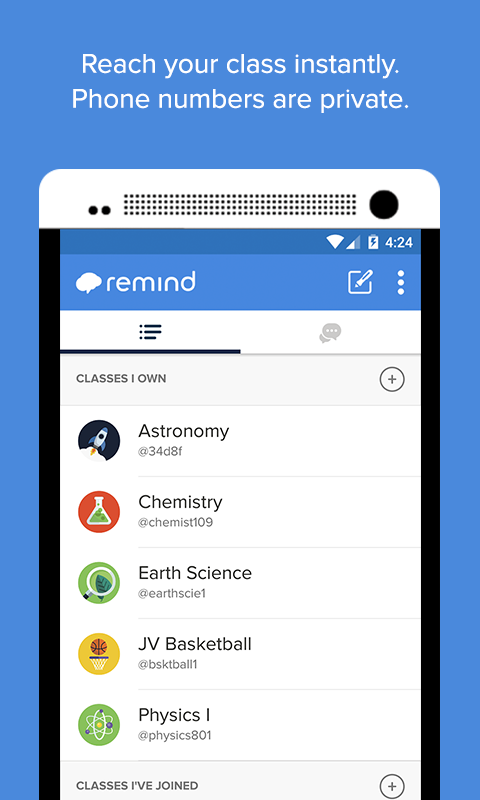 Remind- screenshot
