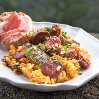 Chorizo and Pork Loin Paella