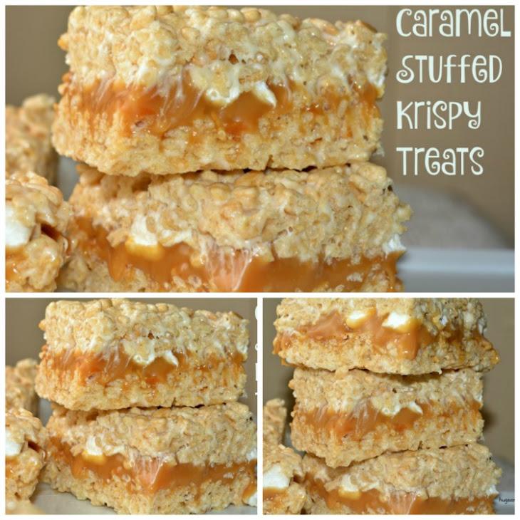 Caramel Stuffed Krispy Treats Recipe