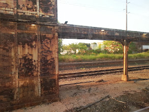 Photo: At 6 am Sunday we boarded the Lake Shore Limited for a nine hour ride to Albany. This is the Erie station.  Seriously the entire station stop looked like this. :(