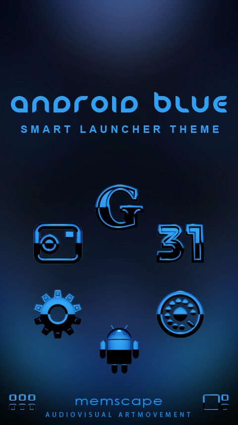 A-BLUE Smart Launcher Theme Screenshot 0