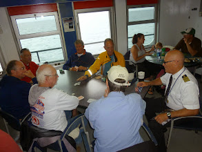 Photo: Day 40 Manitowoc to Ludington MI  captain Curtis joins us for some Texas Hold-m  He beats Ed with 2 kings over Ed's 2 jacks