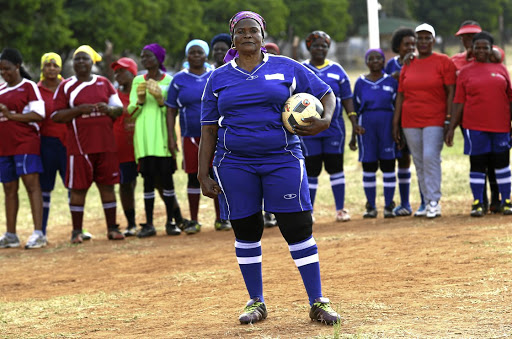 Meriam Mushwana, 65, from Nkowakowa in Tzaneen, is one of two grannies who were invited to Russia to show off their soccer skills.