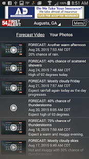 WFXG First Alert Weather- screenshot thumbnail