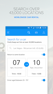 Rentalcars.com Car Rental App- screenshot thumbnail