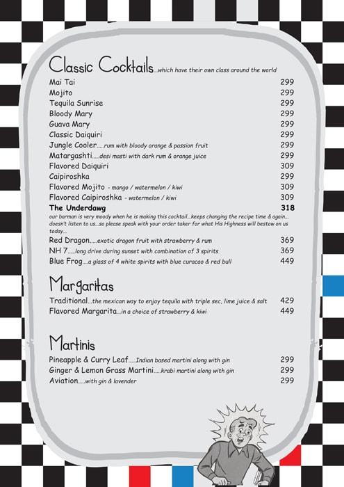 Pop Tate's menu 3
