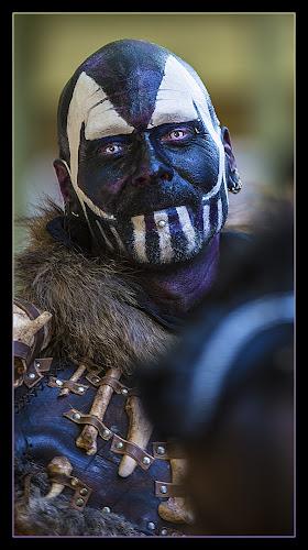 Indigo Warrior by Elk Baiter - People Musicians & Entertainers ( blue, warrior, maryland, festival, medieval, renaissance, indigo, fashion,  )
