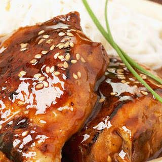 Glazed Chicken with Rice Vermicellis Recipe